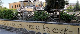 Terremoto na Itália deixa 700 alunos sem escola