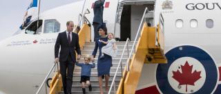 Ao lado dos filhos, príncipe William e Kate  visitam o Canadá
