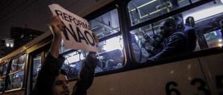 Estudantes encerram ato contra reforma  do Ensino Médio no Ibirapuera
