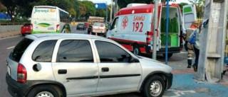 Motorista atropela agente de trânsito  após ser multado
