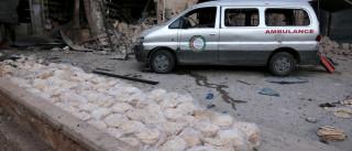 Bombas caem perto de hospitais e centro  de distribuição na Síria