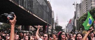 Mulheres se reúnem em SP para  protestar contra o feminicídio
