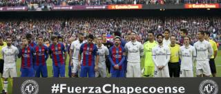 Barcelona e Real Madrid fazem homenagem à Chapecoense