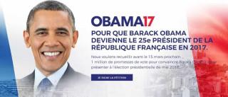 Página cria petição para eleger Obama como presidente da França