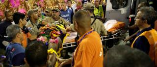 Cinco vítimas de acidentes na Sapucaí seguem internadas no Rio