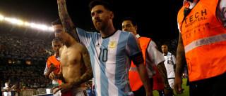 Desempenho da Argentina sem Messi  deixaria país fora da Copa do Mundo