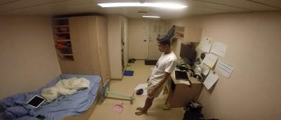 Vídeo 'fantasmagórico' mostra interior de quarto em navio