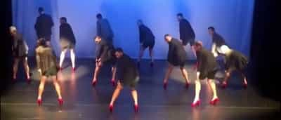 Pais de salto roubam a cena em apresentação de dança; veja!
