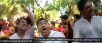 Zeca Camargo vai à loucura com hit do Nirvana em pré-carnaval