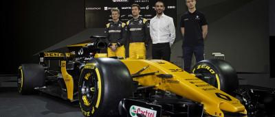Renault apresenta novo carro de F1 com pintura renovada