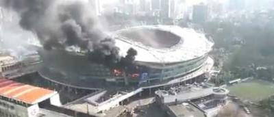 Estádio de time de Tevez na China sofre incêndio de grandes proporções