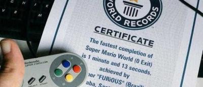 Brasileiro bate recorde ao zerar Super Mario World em cerca de 1 minuto