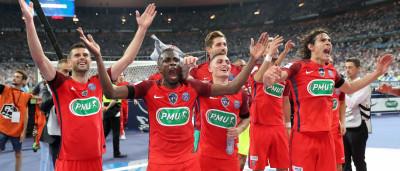 Lateral marca contra aos 46' do 2º T e PSG leva a Copa da França