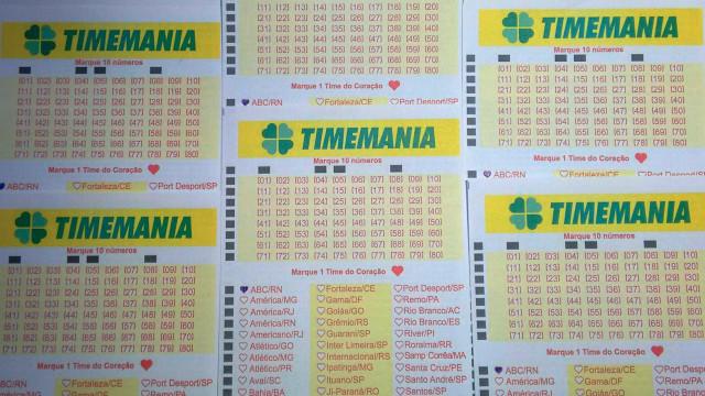 Timemania acumula e deve pagar R$ 9,3 milhões no próximo sorteio