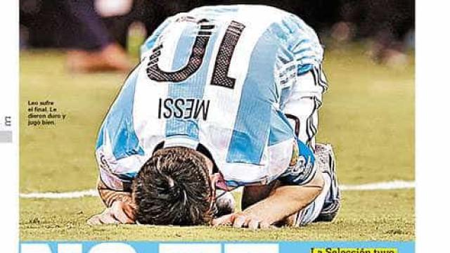 Jornal argentino faz campanha por Messi na seleção: 'Não se vá'