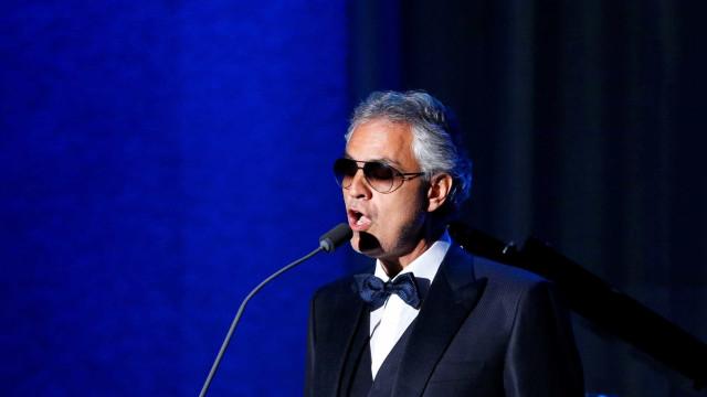 'Sempre há uma boa razão para retornar ao Brasil', diz Andrea Bocelli