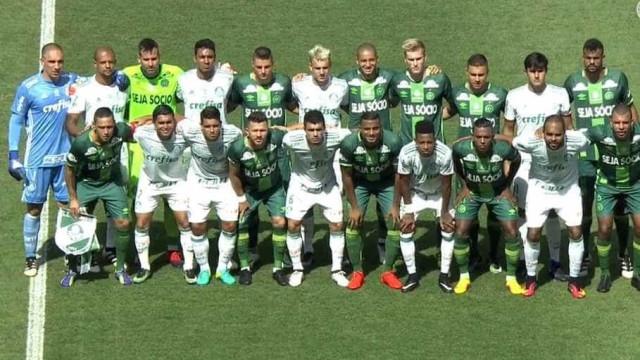 Chape agradece ao Palmeiras antes de amistoso: 'Tamo junto'