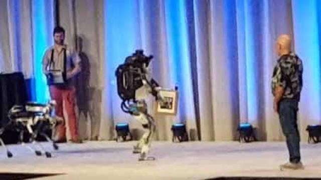 Robô se 'estabaca' sozinho durante demonstração