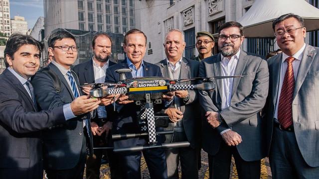 Drones doados a Doria não podem operar no país