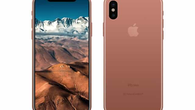 Imagem mostra possível versão 'cobre' do iPhone 8