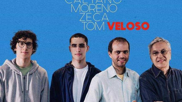 Caetano Veloso marca data das apresentações com os filhos