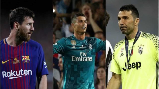 Messi, CR7 e Buffon disputam prêmio de melhor da temporada da Uefa