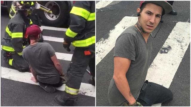 Perna de jovem é engolida por buraco em avenida no Brooklyn