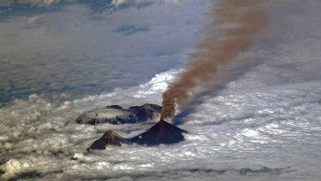 Cosmonauta russo fotografa vulcão mais alto da Eurásia