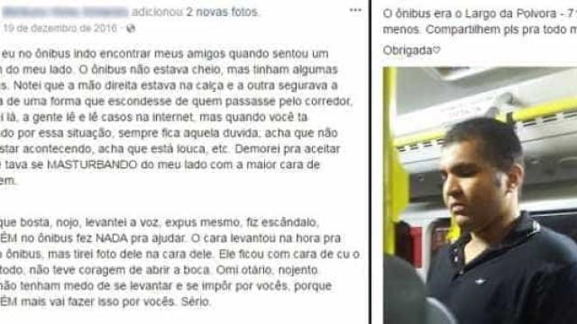 Jovem fez relato sobre estuprador em ônibus no fim de 2016