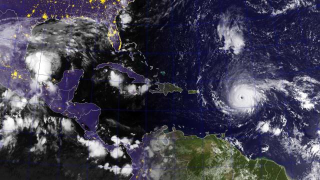 Satélites captam a grandiosidade do furacão Irma