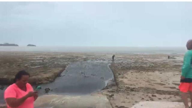 Furacão Irma causa recuo em mar das Bahamas; veja vídeo