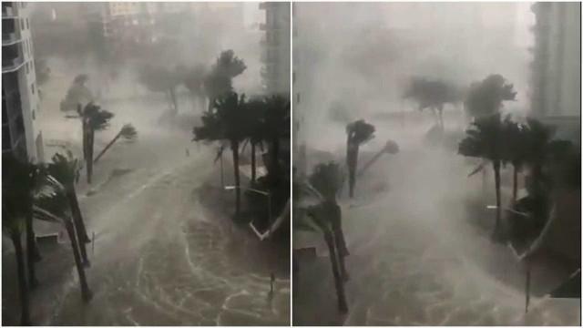 Imagens impressionantes mostram a passagem do furacão Irma por Miami