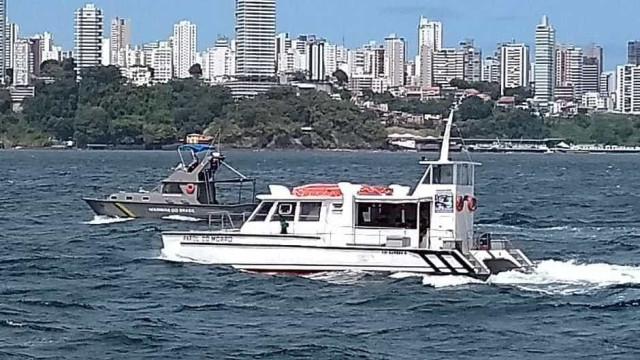 Baleia bate em catamarã na travessia de Morro de São Paulo a Salvador