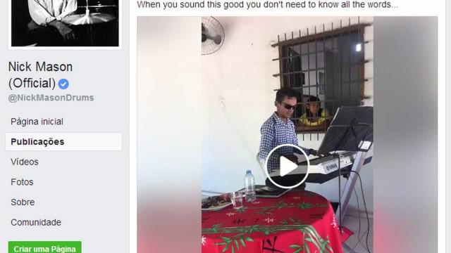 Pink Floyd compartilha vídeo de cantor brasileiro com inglês 'bizarro'