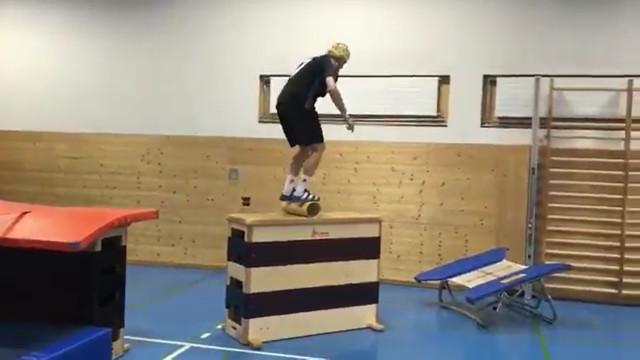 Atleta mostra treino na academia com Parkour; vídeo
