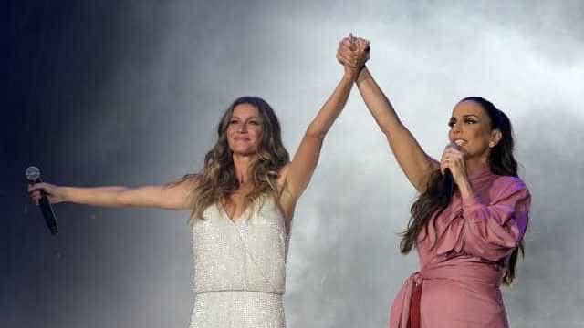 Grávida, Ivete revela sexo de gêmeos durante show no Rock in Rio