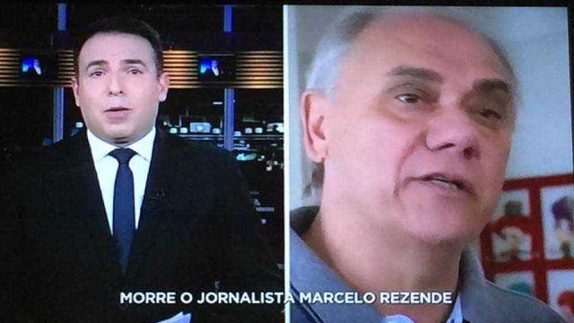 Apresentador se emociona no ar ao falar da morte de Marcelo Rezende