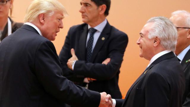 Disputas comerciais devem tornar indigesto jantar de Temer e Trump