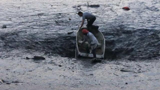 Imagens mostram barco sugado por represa no interior de São Paulo