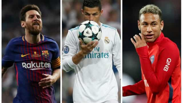 Neymar, Messi e Cristiano Ronaldo concorrem a melhor do mundo