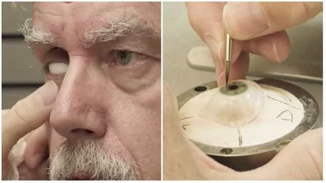 A arte e tecnologia por trás da criação de olhos protéticos