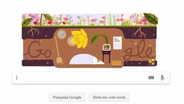 Google comemora chegada da primavera com Doodle divertido