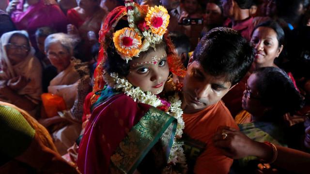 Menina de três anos é a nova 'deusa viva' do Nepal
