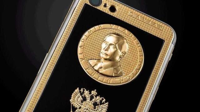 Modelo 'ostentação' do iPhone X custa R$ 14 mil e leva rosto de Putin