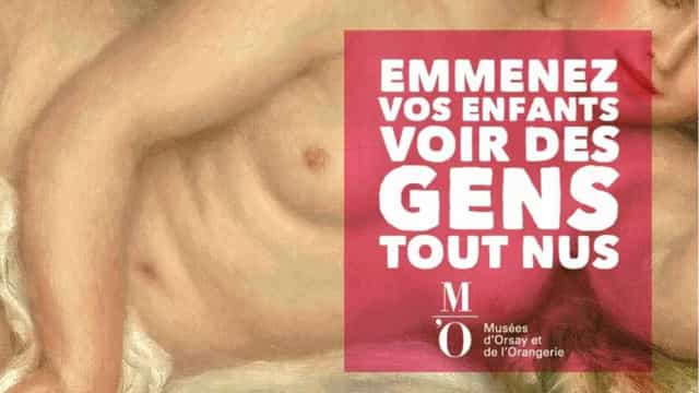 Oposto do Brasil: em Paris, museu pede para levar filhos para ver nudez