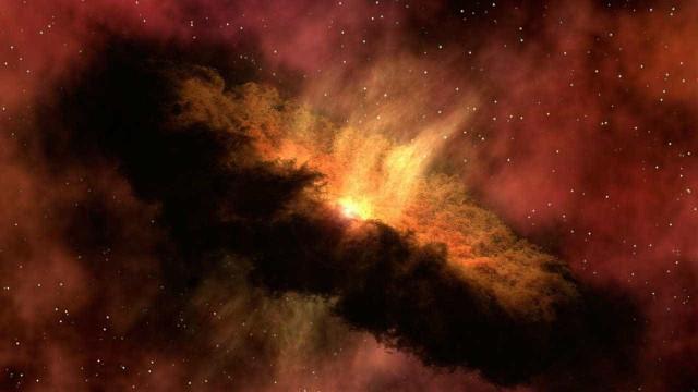 Assista a colisão impactante de duas estrelas de nêutrons