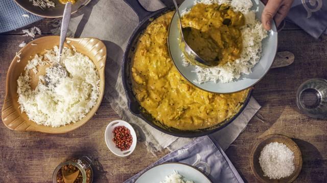 Jantar saudável: Tofu e Curry de Vegetais fica pronto em 30 minutos