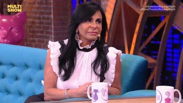 'Nem beijo tem', diz Gretchen sobre intimidade com o marido