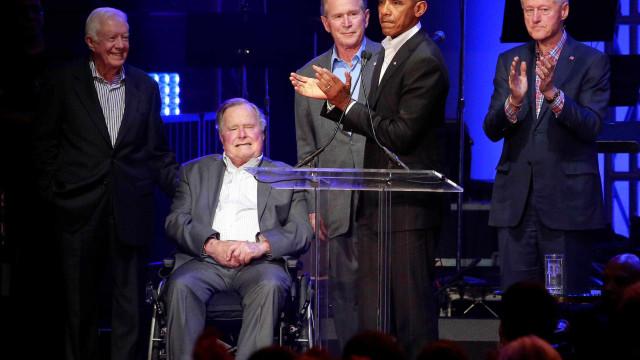 Ex-presidentes americanos arrecadam fundos para vítimas de furacões