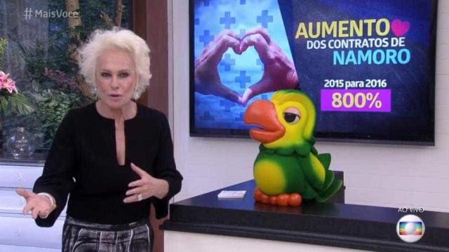 Ana Maria Braga assume namoro durante o 'Mais Você'